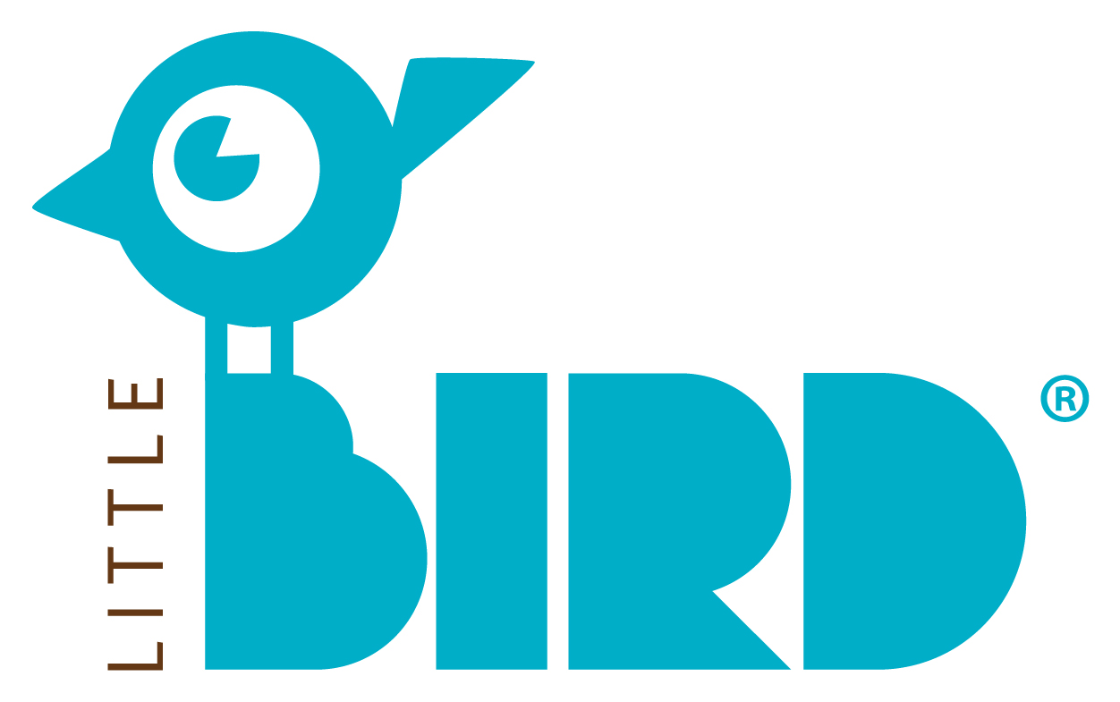 "Blau-schwarzes Logo ""Little Bird"""
